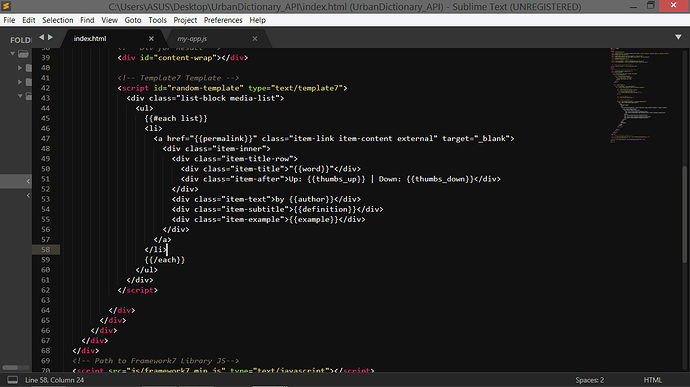 Ajax call returns undefined in html - Framework7 Forum