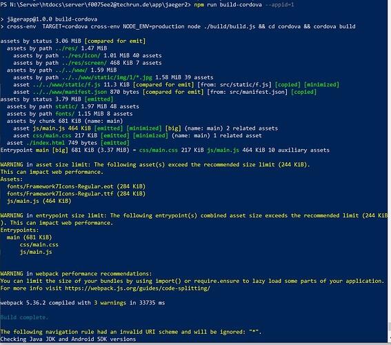 npm run build-cordova