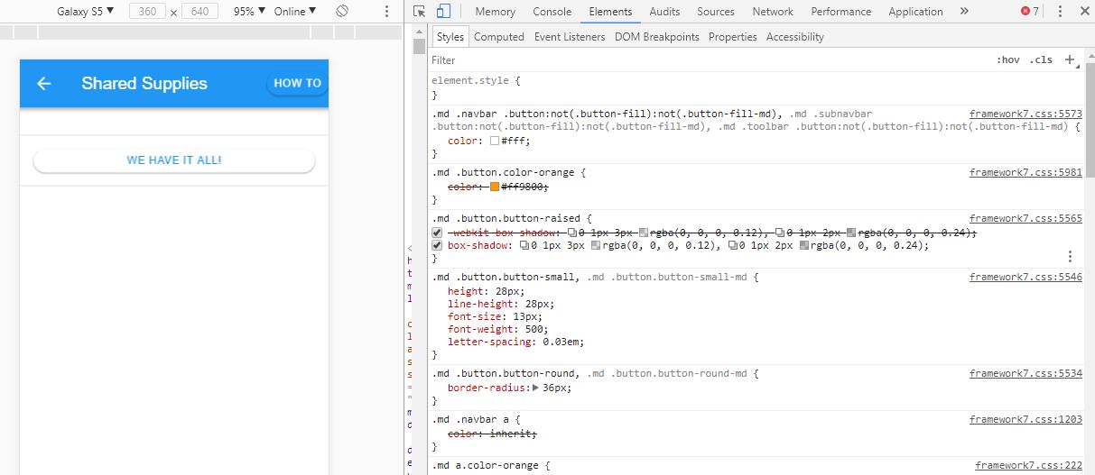 Vue navbar button color not working - Questions - Framework7