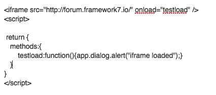 Solved][V2] set iframe onload event no effect - Questions
