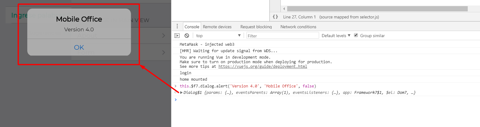 SOLVED] Framework 7 gives Cannot read property 'dialog' of